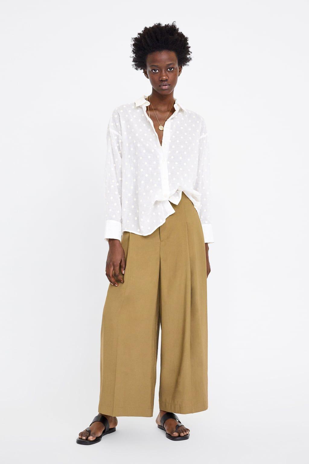 luego super popular mejor lugar BLUSA OVERSIZE LUNARES BORDADOS   Zara in 2019   Oversized blouse ...