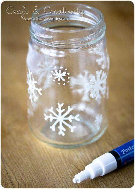 christmas glass lanterns could be done with baby food jars and tea lights - Mason Jar Christmas Lights