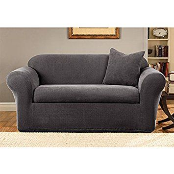 Sure Fit Stretch Metro Sofa Slipcover Gray