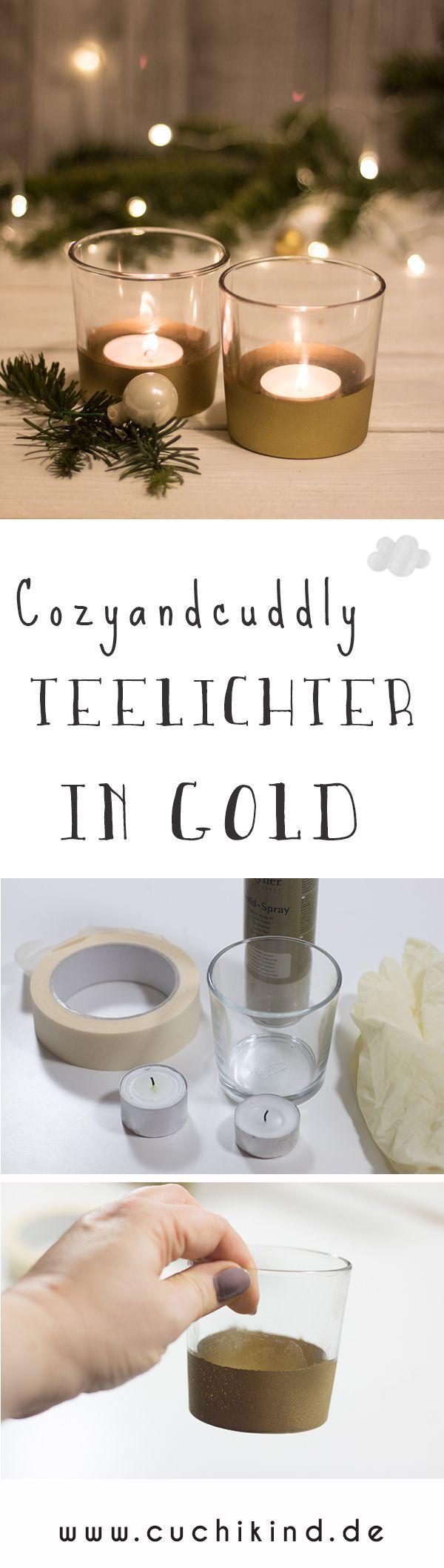 Geschenkidee #7: Cozy and cuddly - Goldene Teelichter #weihnachtenikea