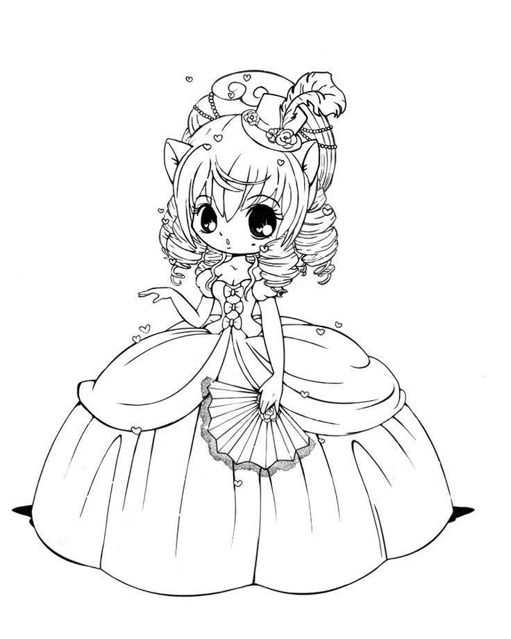 Pin by Amber Kepler on color Chibi coloring pages