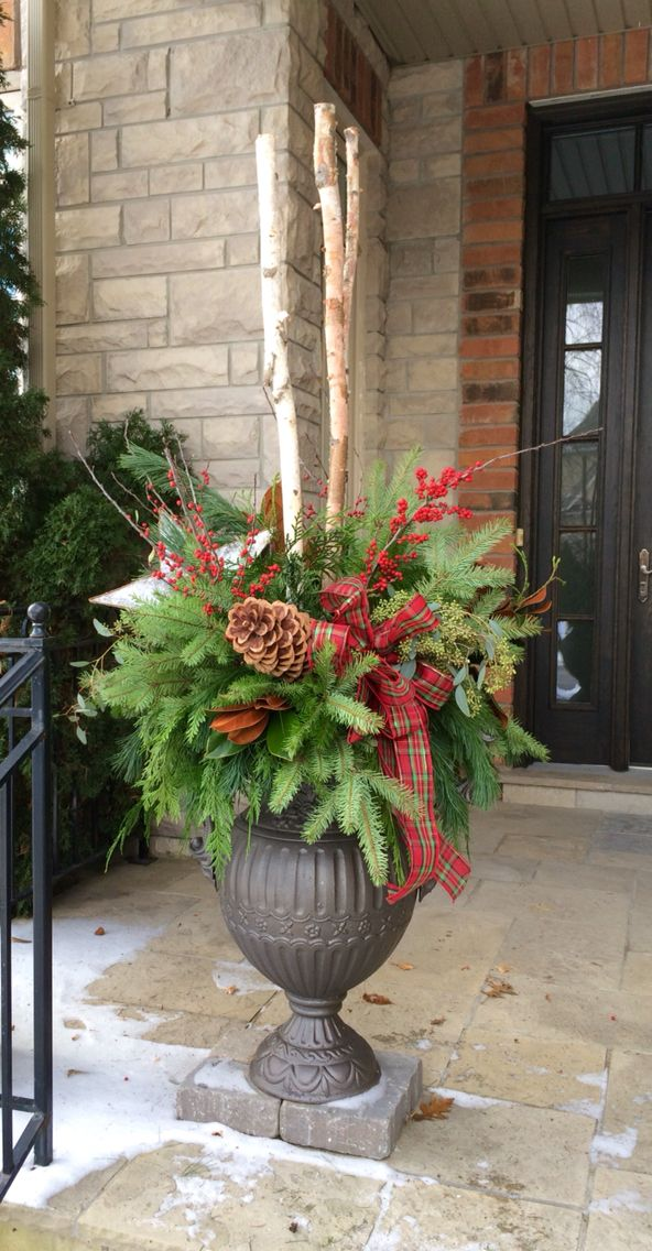 Christmas urn arrangement contain yourself pinterest christmas christmas urn arrangement solutioingenieria Choice Image