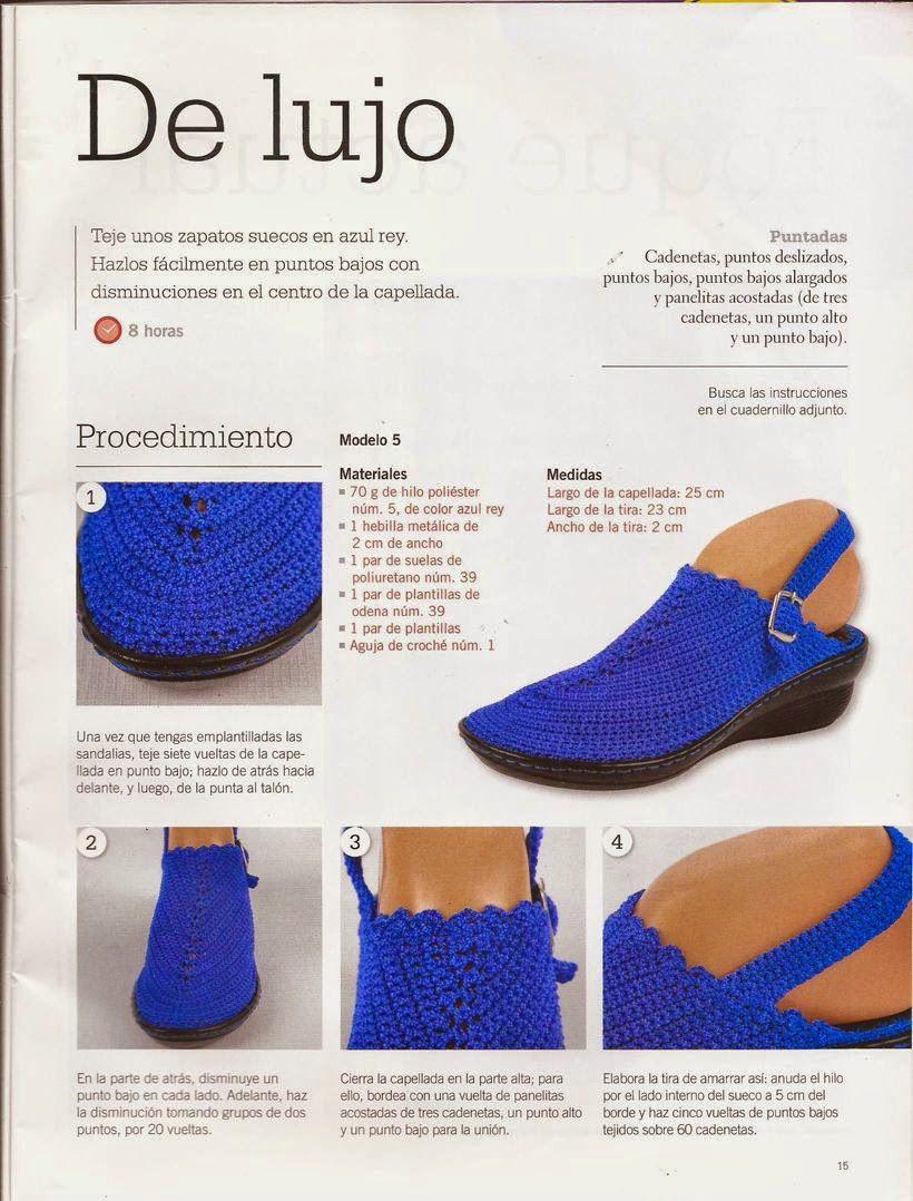 Instrucciones para suecos   Crochet shoes/slippers   Pinterest ...