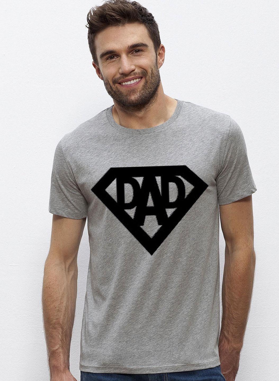 dad super heros t shirt gris pour homme s xxl cadeau. Black Bedroom Furniture Sets. Home Design Ideas