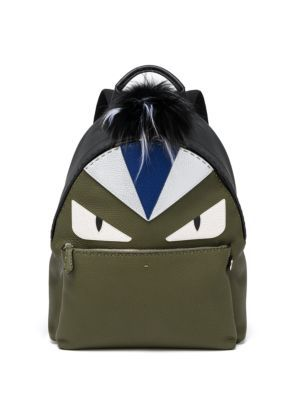a07e7971452a FENDI Monster Eye Leather Backpack.  fendi  bags  fur  backpacks ...