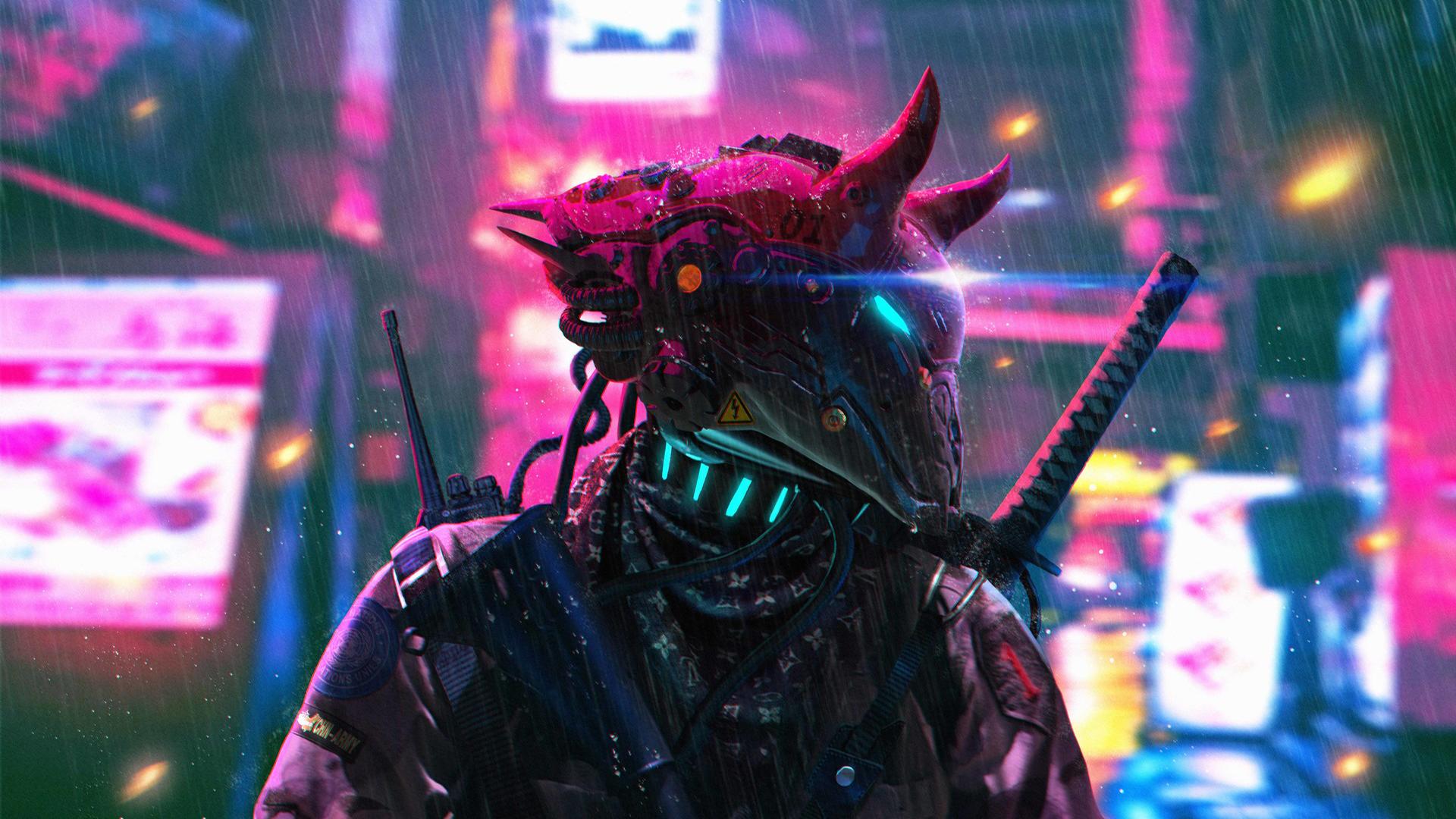 cyberpunk portrait [1920x1080] Cyberpunk, Papel de