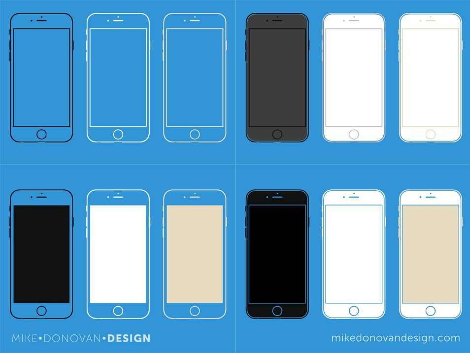 IPhone 6 Wireframe Collection Free Iphone Mockup Templates