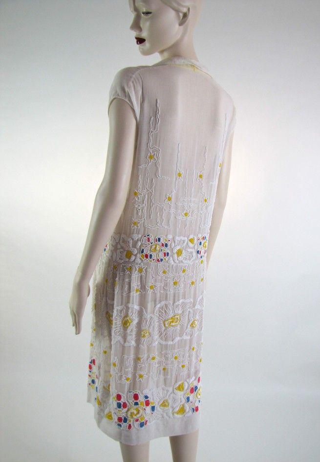 Gorgeous Vintage 1920's French Beaded Day or Leisure Dress