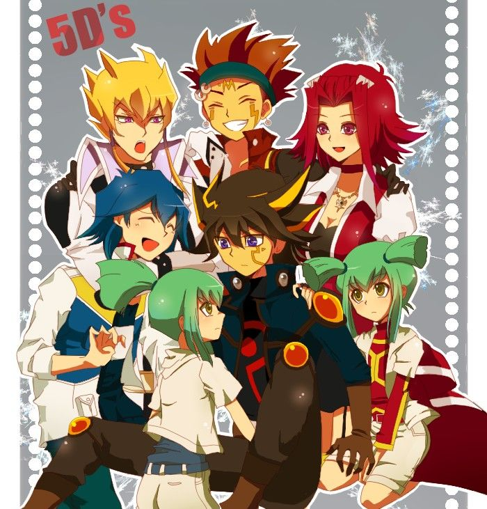 Yugioh Yusei, Jack, Crow, Akiza, Leo, Luna, Bruno