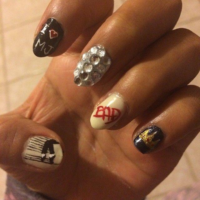 Michael Jackson Nail Art Mj Finguar Nails In 2018 Pinterest