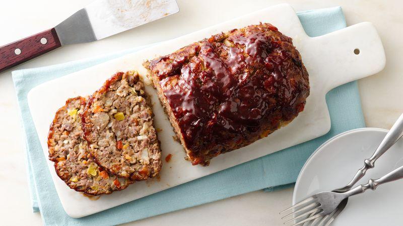 Loaded Vegetable Meatloaf Recipe Recipes Meatloaf Veggie Meatloaf