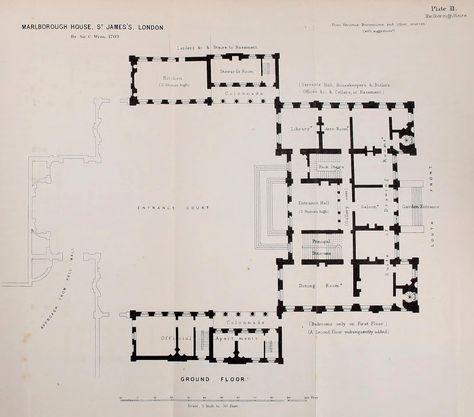 Floor plan of Marlborough House London – Marlborough House Floor Plan