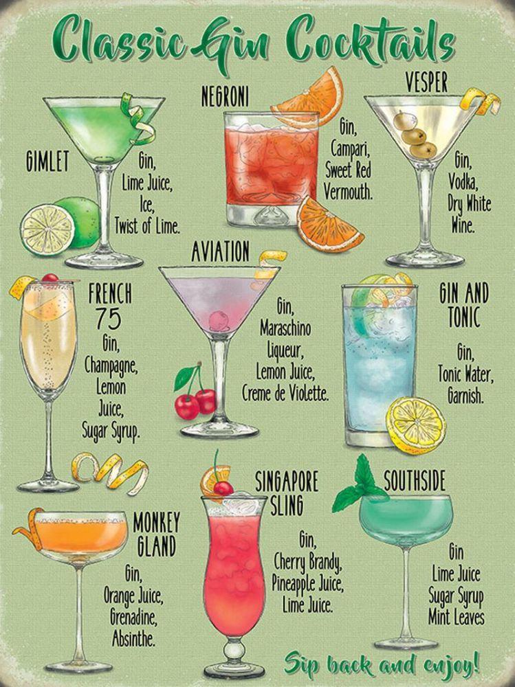 Gin Cocktails Classic Gin Cocktails Gin Cocktails Gin Drink