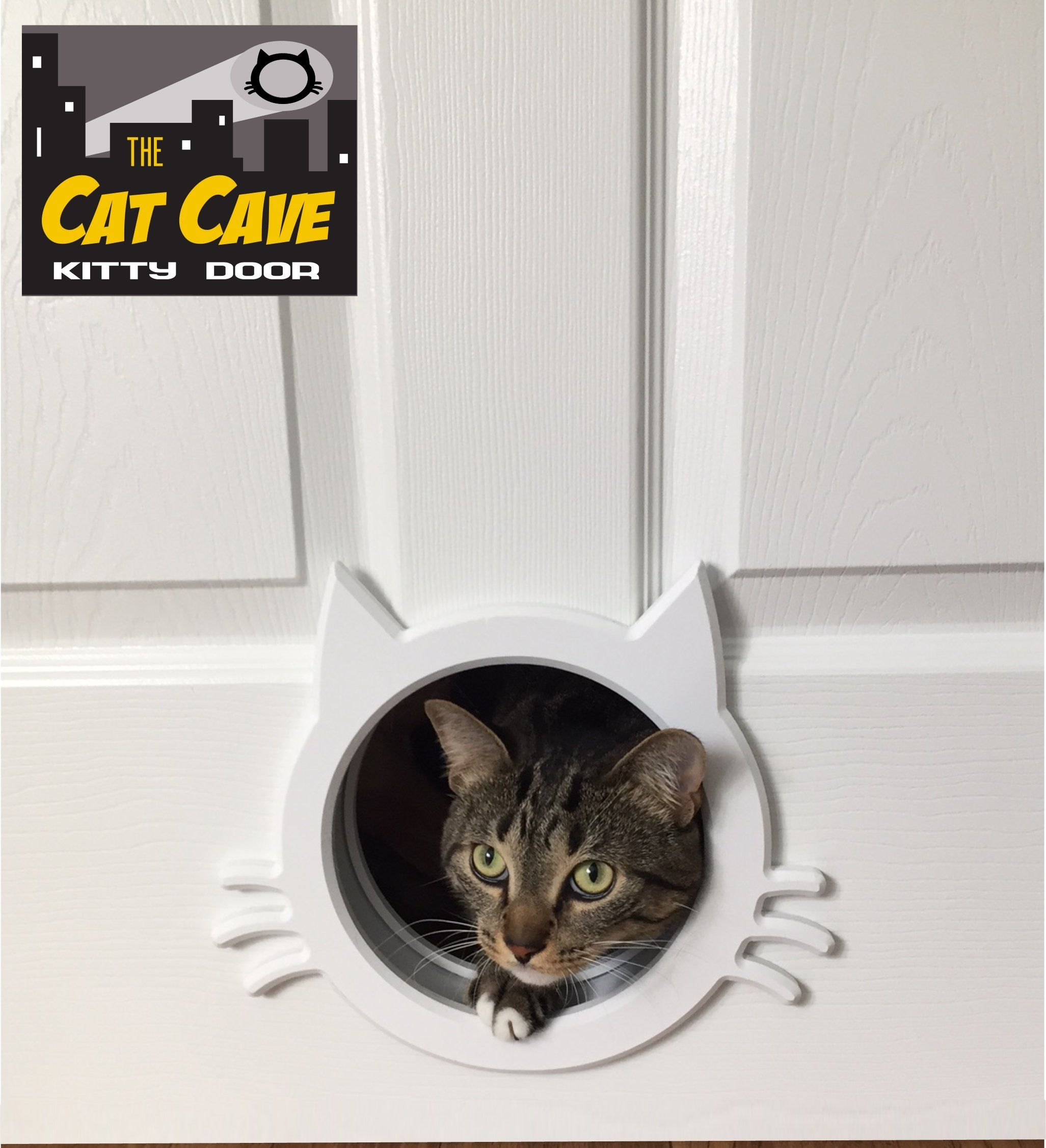 The Cat Cave Interior Cat Door Gate Way *** For More Information, Visit