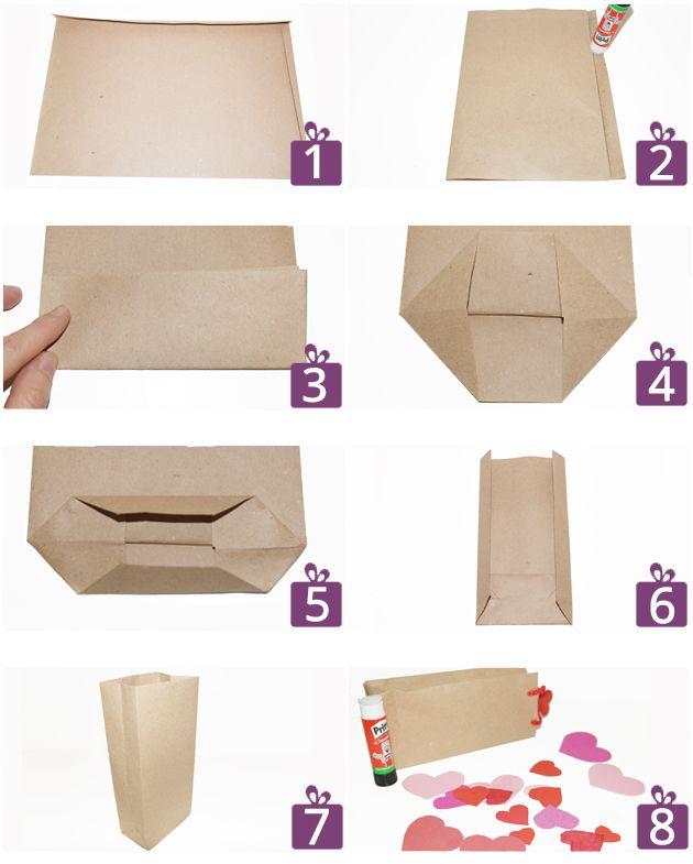 fotoanleitung f r eine herzchen geschenkt te diy. Black Bedroom Furniture Sets. Home Design Ideas