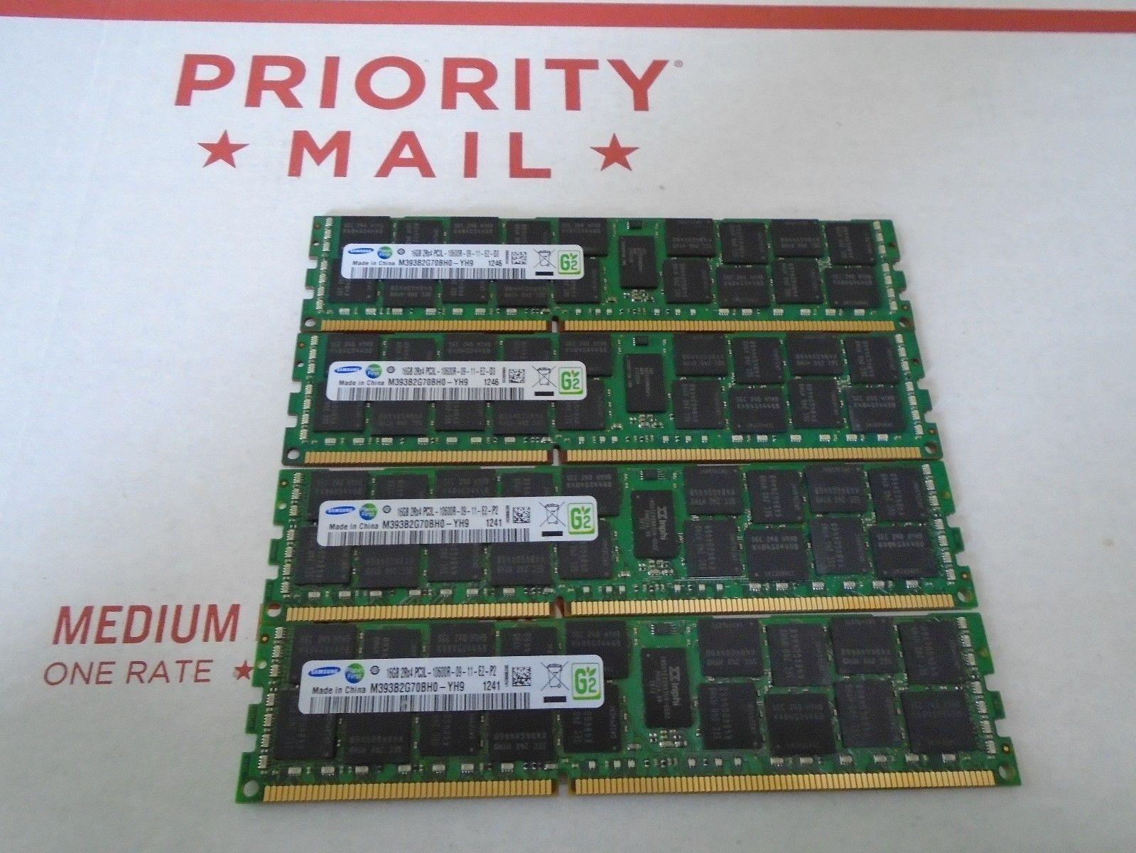Samsung 16gb Pc3l 10600r Server Ram Memory M393b2g70bh0 Yh9 Qty 4