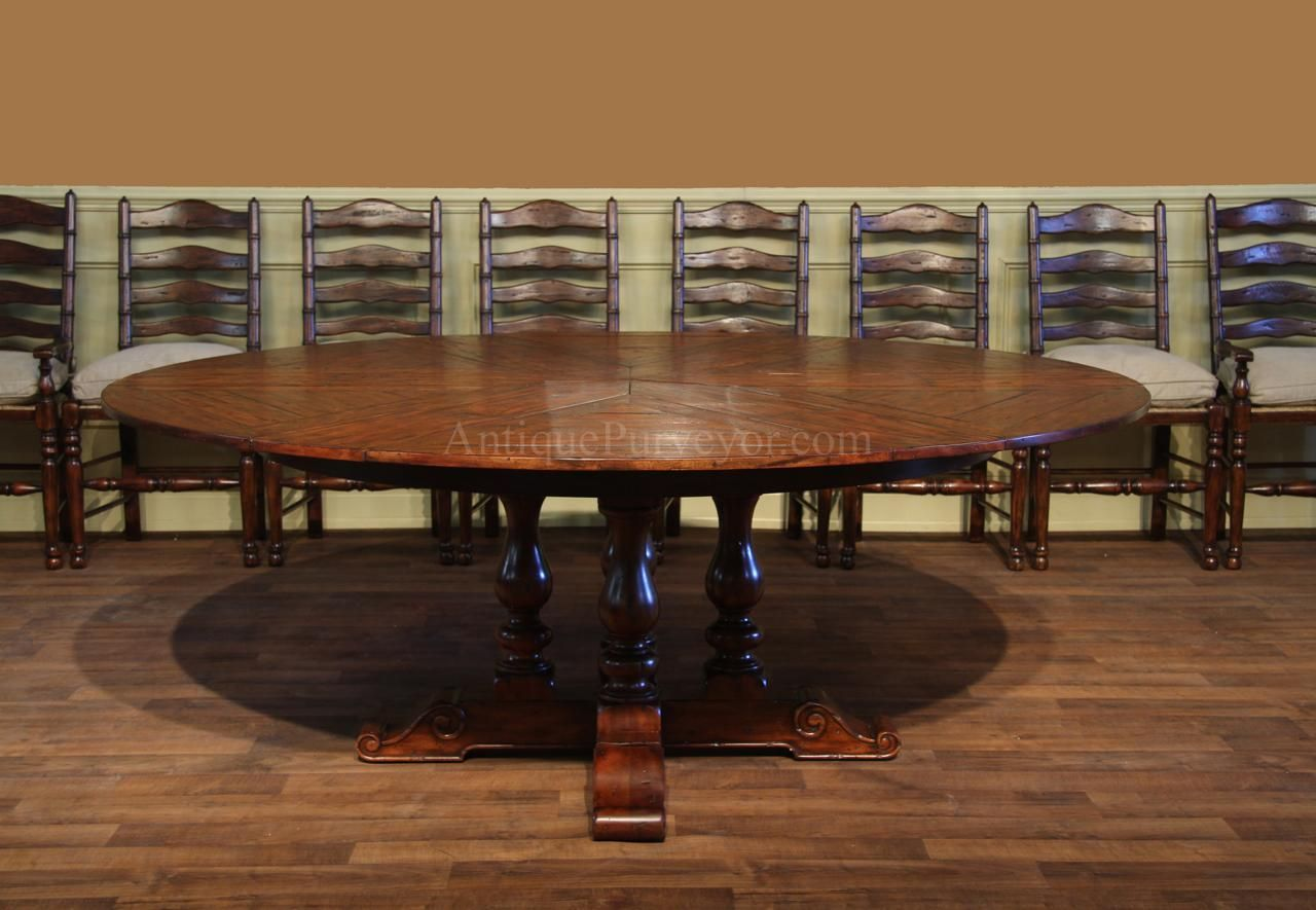 62 78 Rustic Round To Jupe Dining Table With Hidden