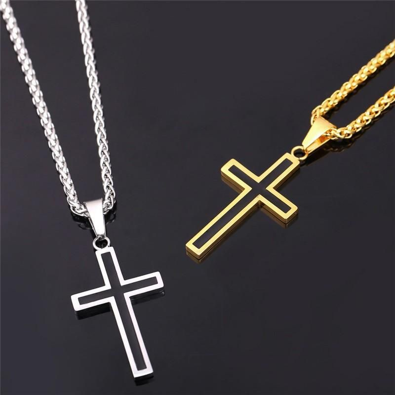 These cross necklaces are hot sellers! Choose from either high quality 316L titanium stainless steel or 18K gold plated. Whichever one you go with you cannot go wrong!