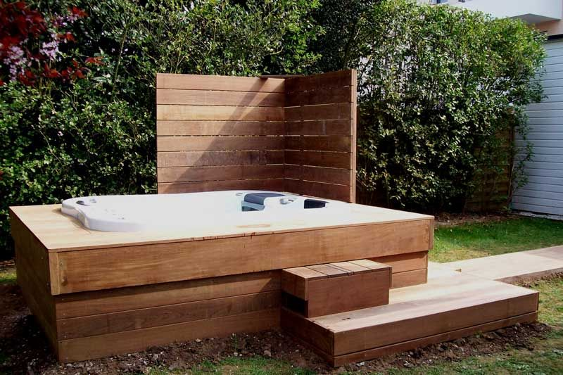 Creation Terrasse Bois Jacuzzi Terrasses En Bois Pinterest Spa