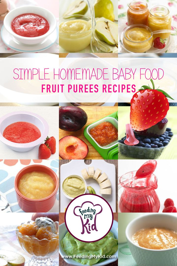 Simple Homemade Baby Food Fruit Purees Recipes B K Food