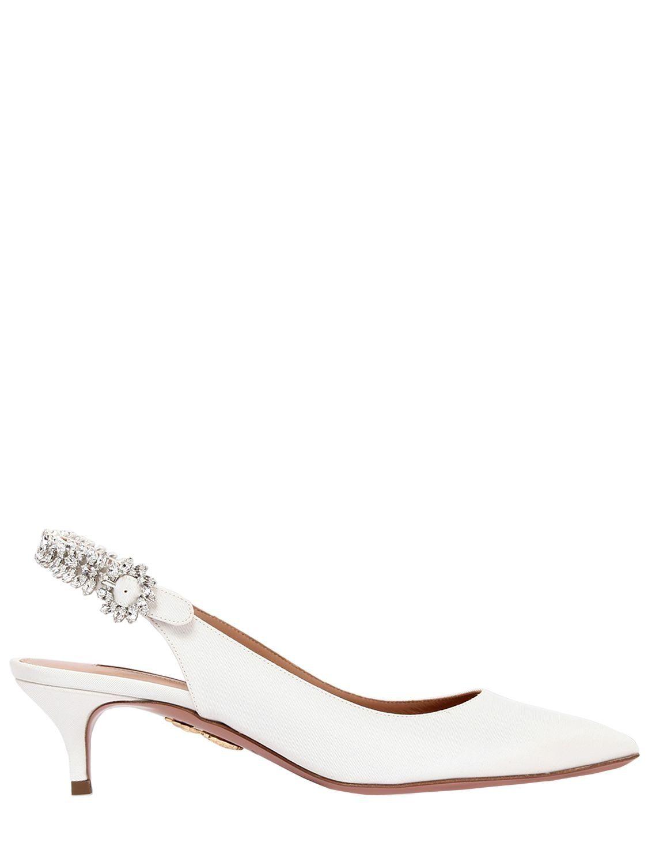 8376c04f7a2c AQUAZZURA 45MM PORTRAIT OF LADY GROSGRAIN PUMPS.  aquazzura  shoes ...
