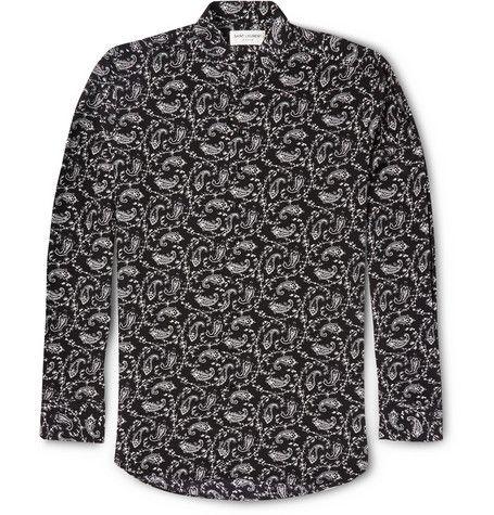 Printed silk shirt Saint Laurent Sale Many Kinds Of BccOgaWdwX