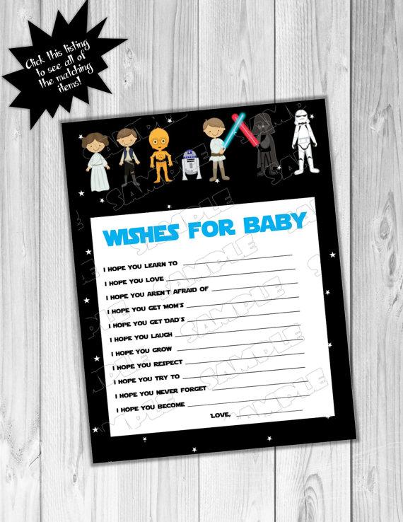 Star Wars Baby Shower Games Starwars Wishes By Greenmelonstudios