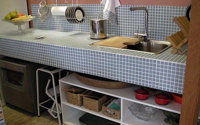 pia com bancada de alvenaria  Pesquisa Google  Cozinhas  Pinterest  Móvei -> Como Fazer Pia De Banheiro De Alvenaria
