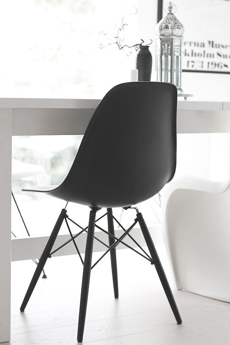 Eames DSW Stuhl Schwarz   POPfurniture.com