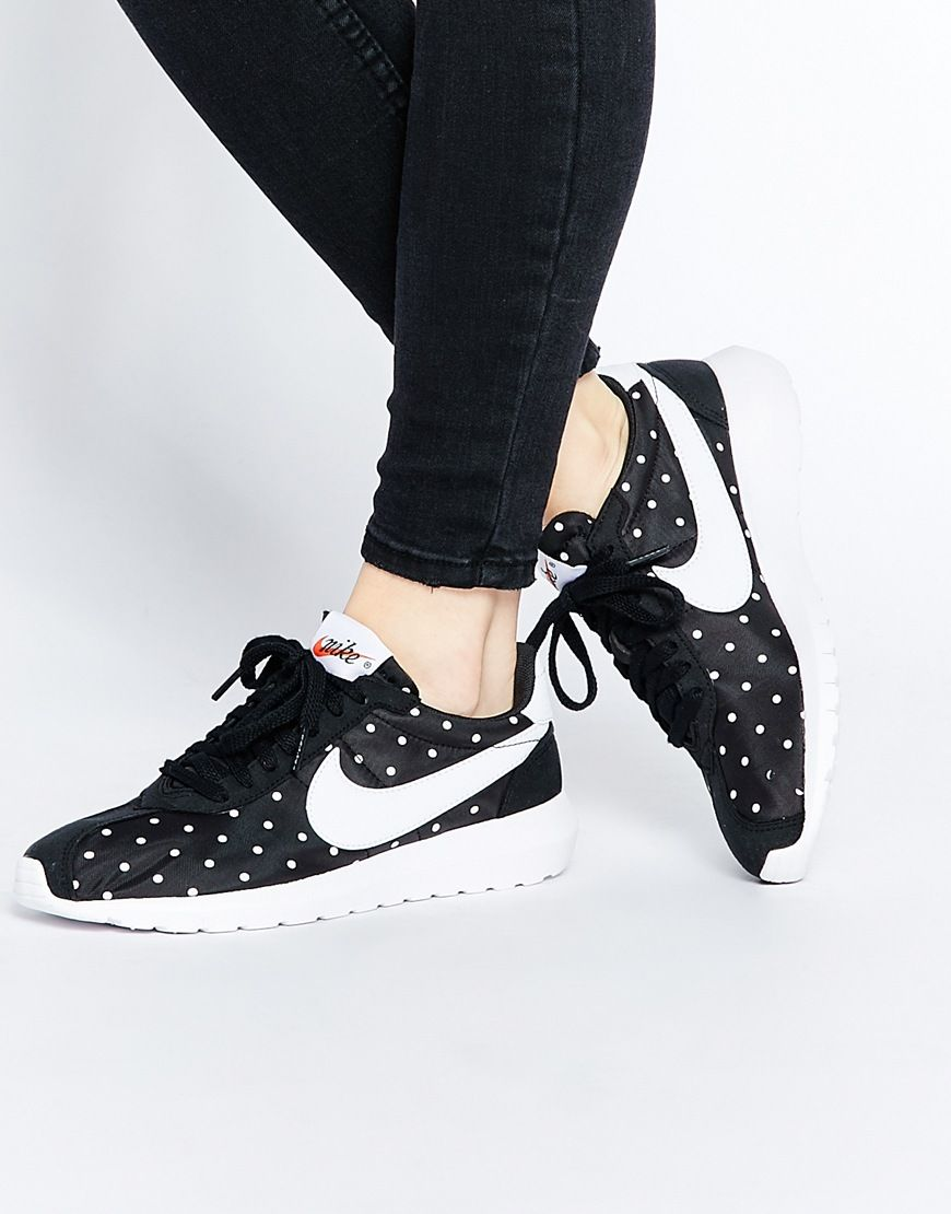 Buy Women Shoes / Nike Black & White Polka Dot Roshe Ld1000 Trainers