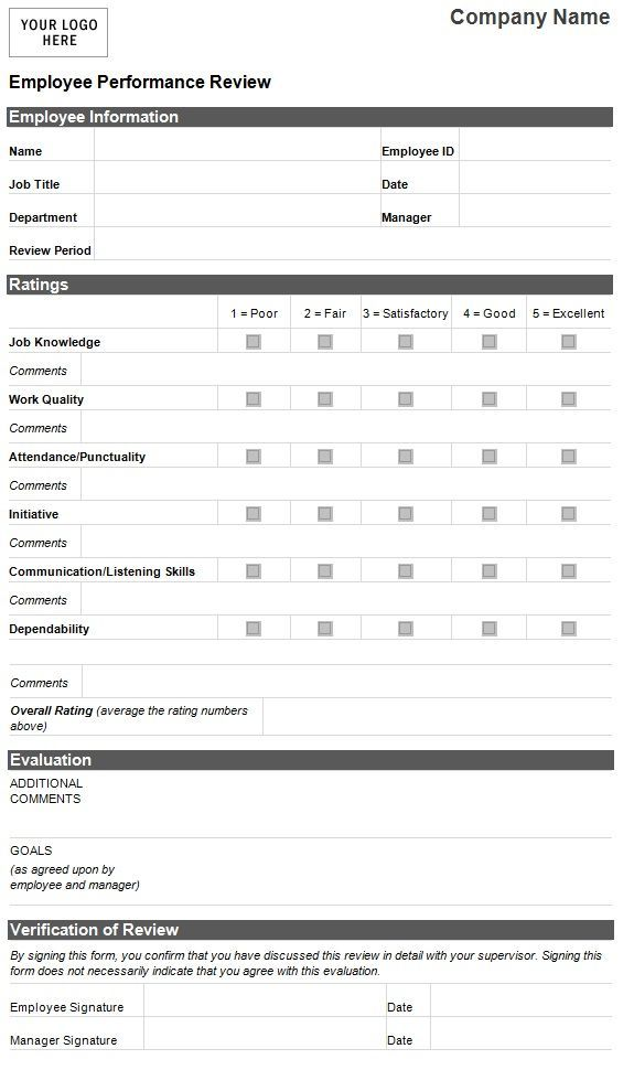 Personnel Evaluation Forms  CityEsporaCo