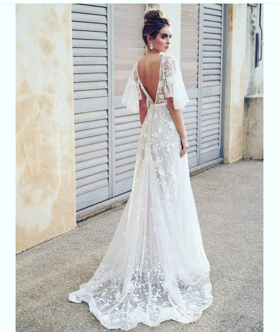 Striking in White @annacampbellbridal #bridalwear #weddings ...