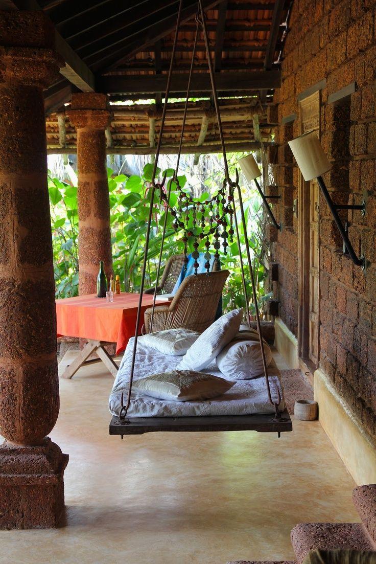 Indian home interiors Bohemian porch, Diy patio, Patio decor