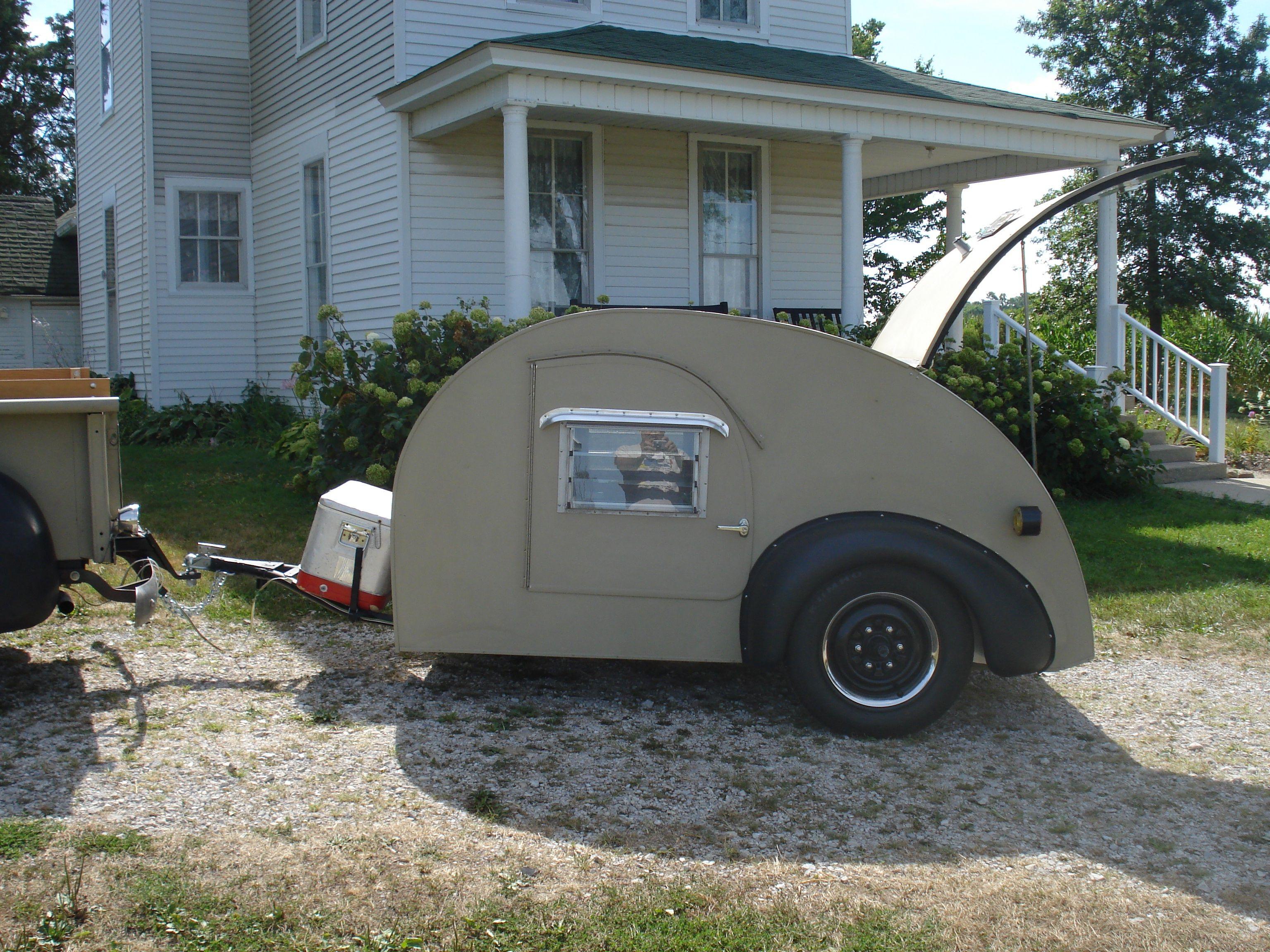 1947 Kit Mfg teardrop camper Vintage Campers Pinterest