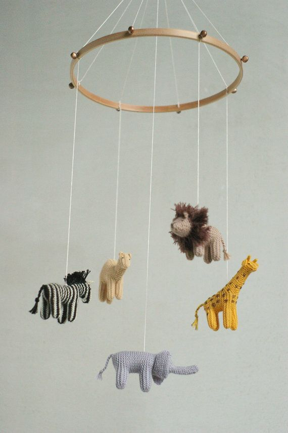 This Baby Jungle Animals Mobile Is Made To Order It Will Be Done In About 4 Weeks Please Contact With Me For More Accurate Term