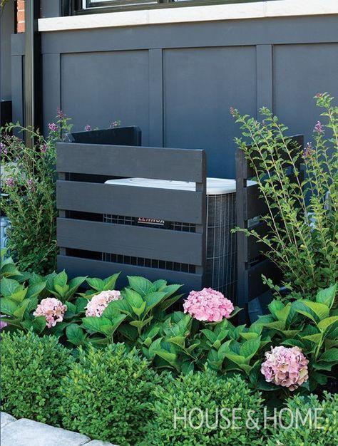 Photo of Die AC-Einheit verschwindet hinter der richtigen Farbe und den richtigen Pflanzen