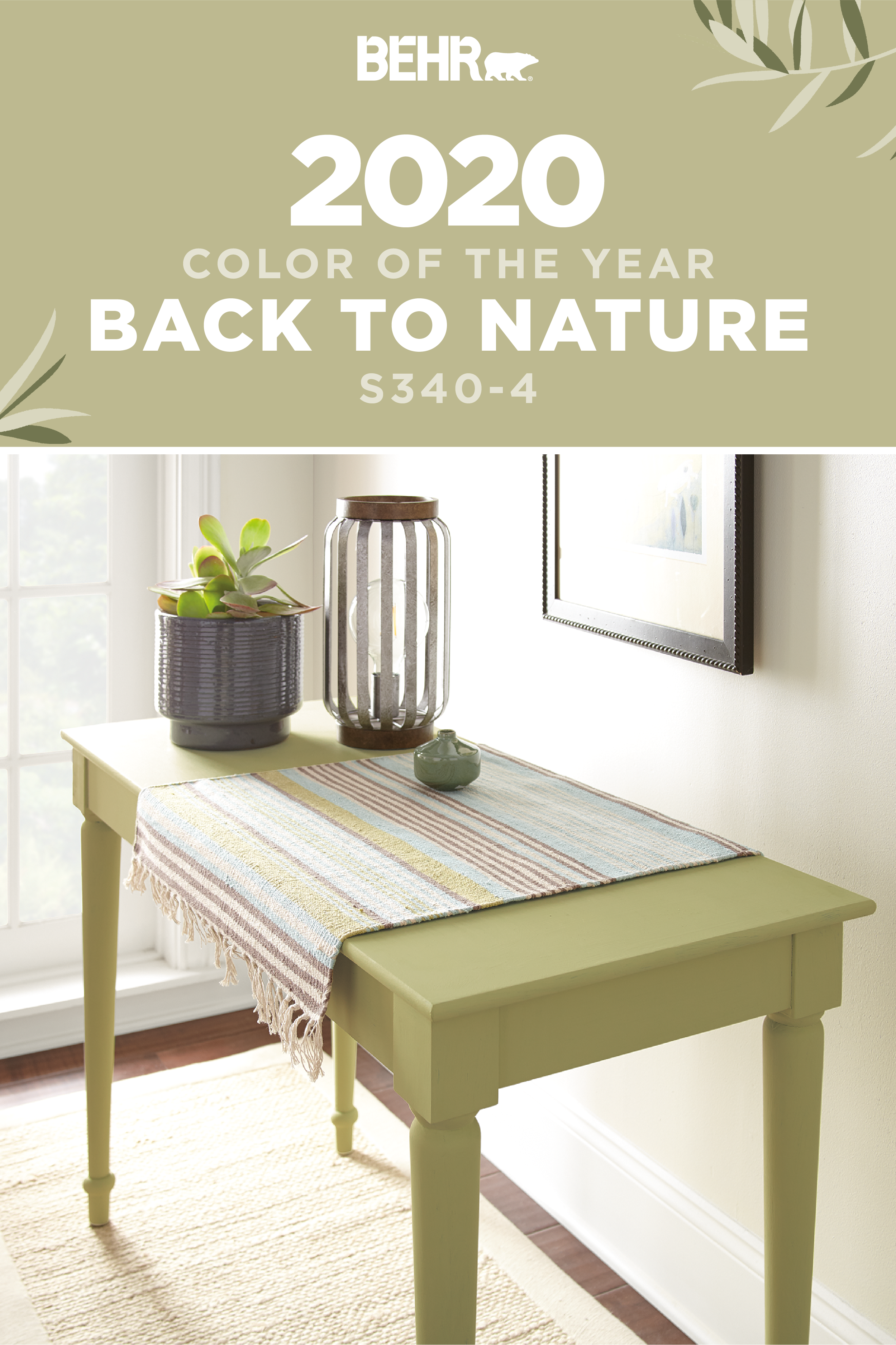 Not just for walls, the BEHR® 2020 Color of the Year also