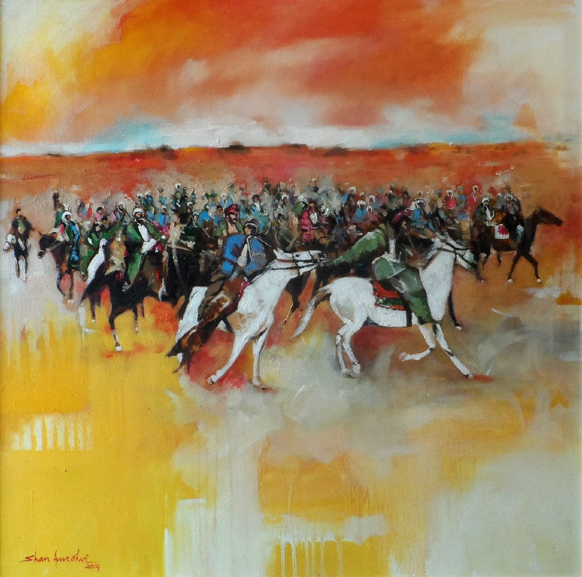 Artist: Shan Amrohvi Artwork Code: AC-SA-037 Medium: Oil on canvas Size: 30 x 30 inch