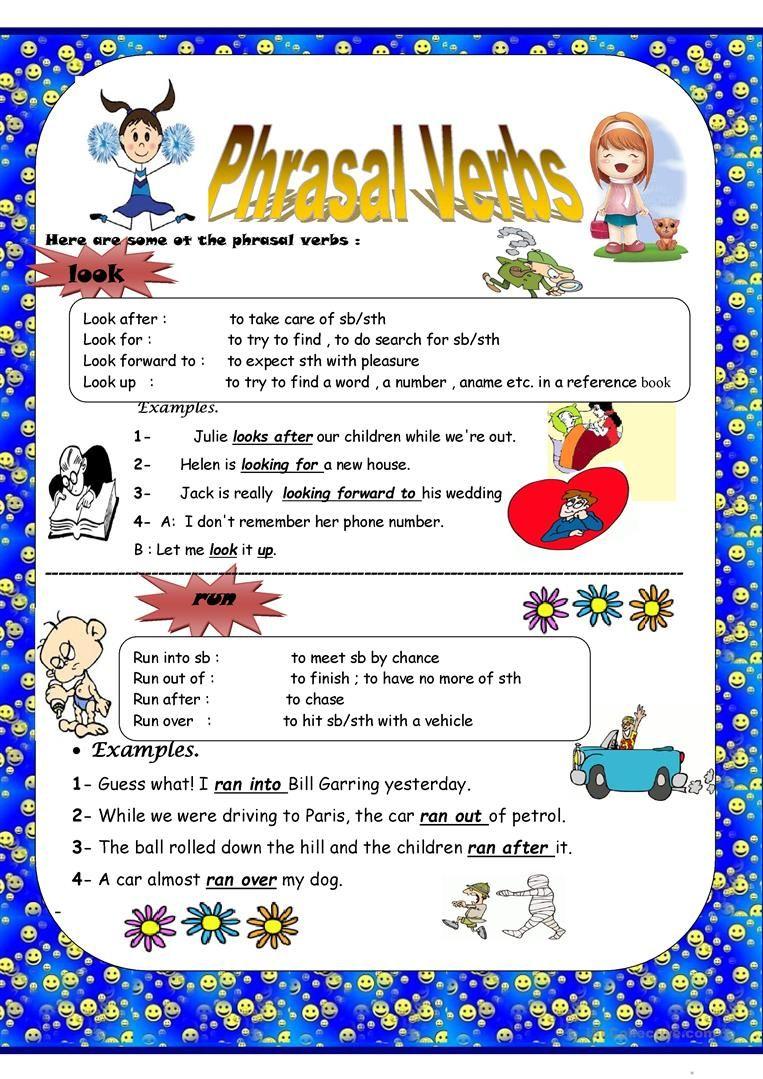 Phrasal Verbs Worksheet Free Esl Printable Worksheets Made By Teachers Verb How To Memorize Things Teachers [ 1079 x 763 Pixel ]