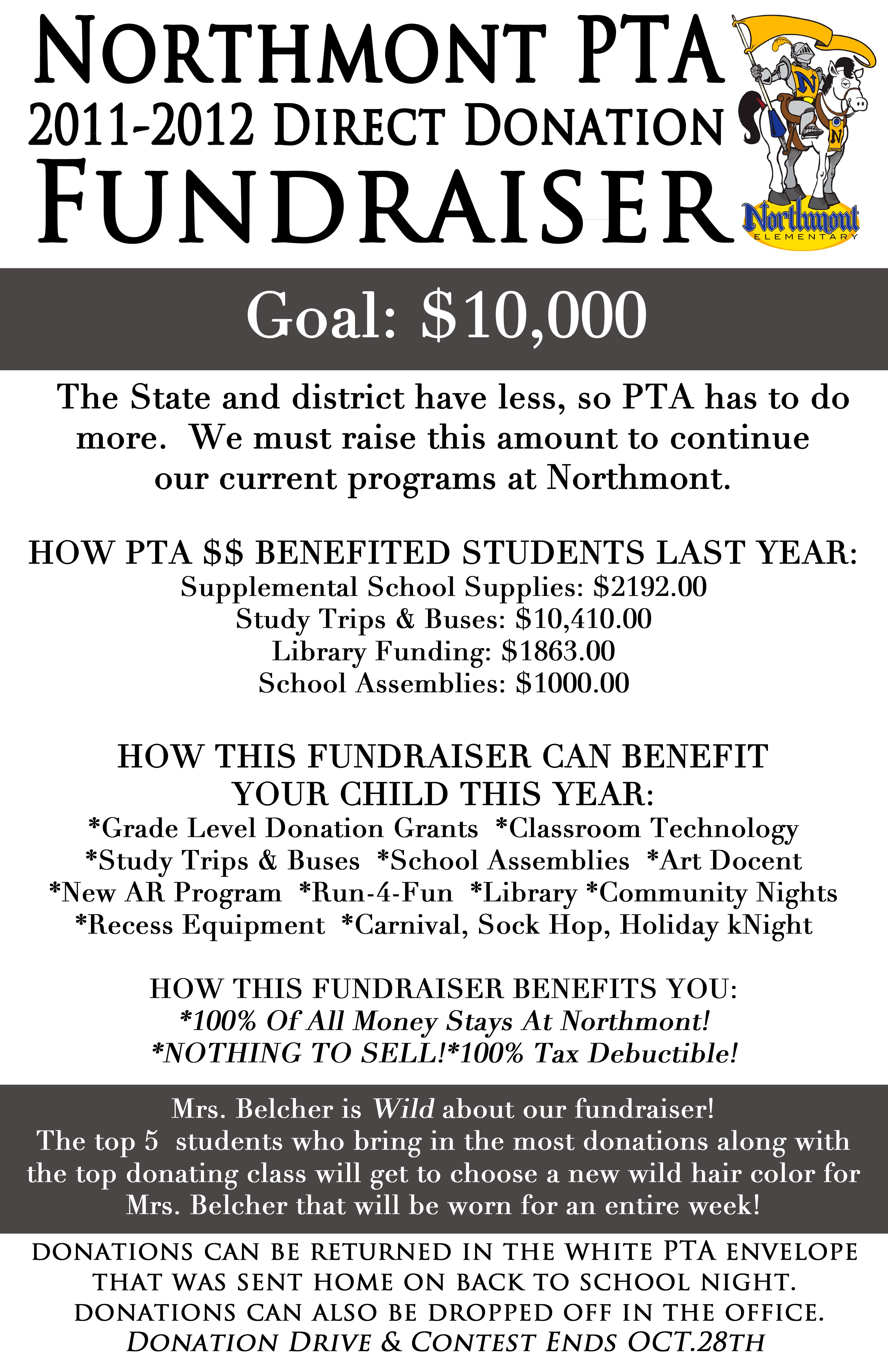 northmont elementary pta direct donation fundraiser