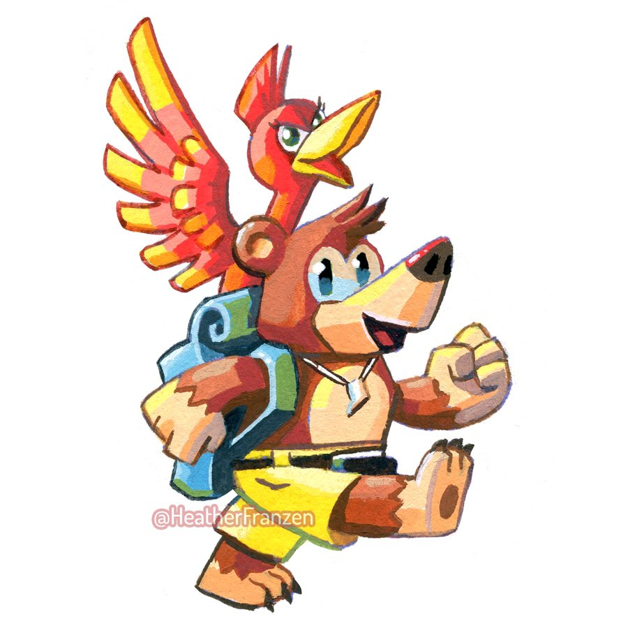 Heather F R On Twitter Banjo Kazooie Banjo Character Design References