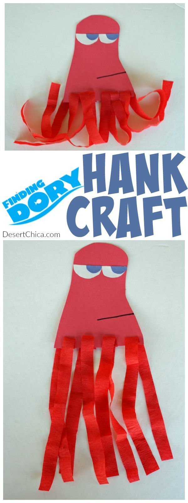 finding dory craft hank the octopus octopus crafts party