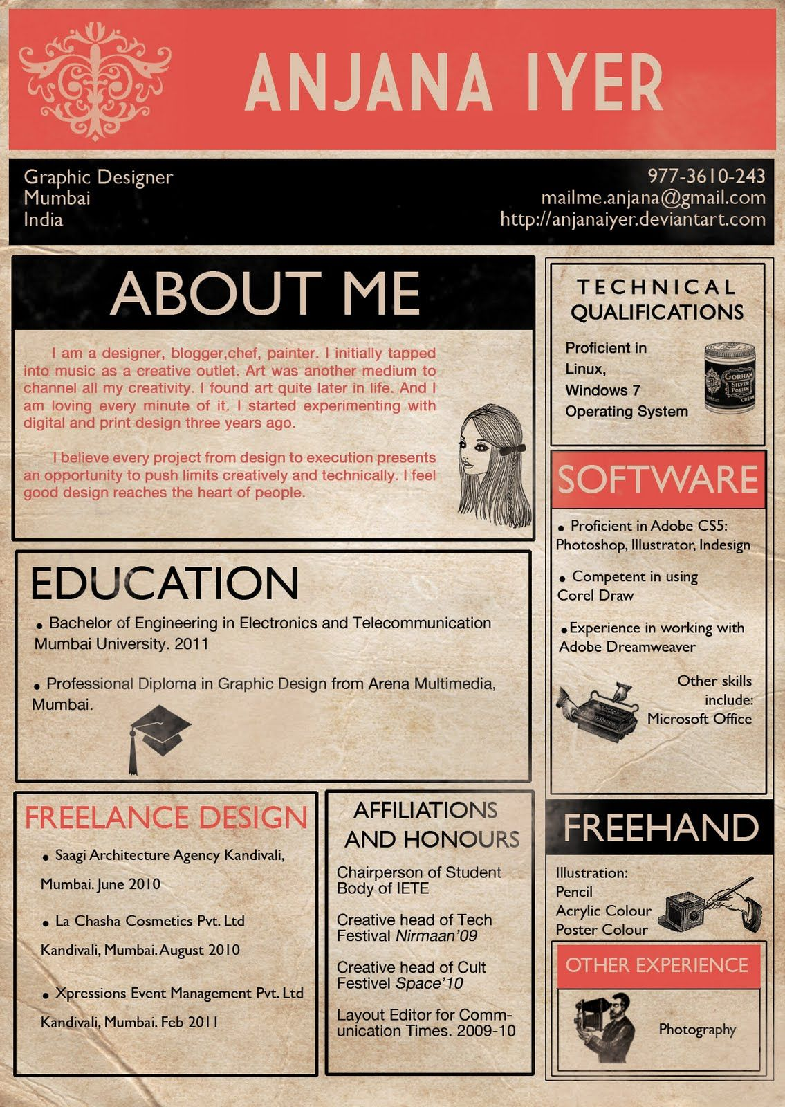 Perfectly Concise Creative Resumes Google Search Creative Cv
