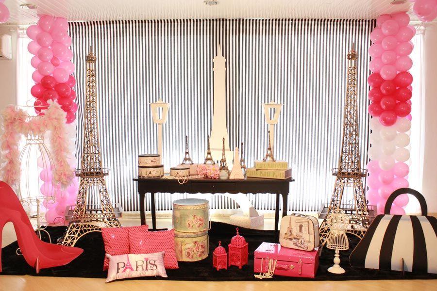 Paris - Muita Festa Decorações | Ale | Pinterest | Paris theme ...