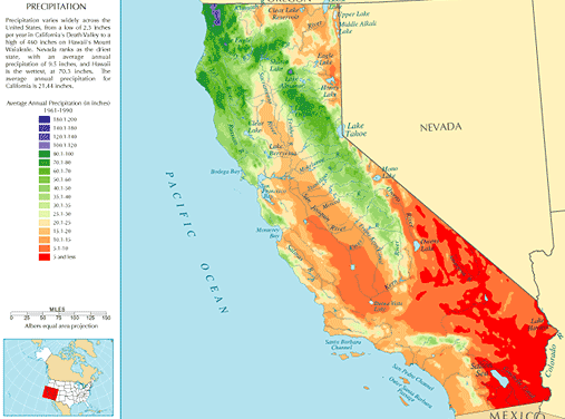 Map Of California Climate Zones.Caprecipitation Climate Of California Wikipedia The Free