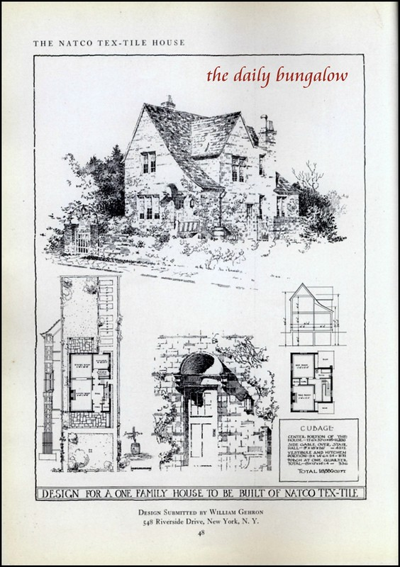 1917 Natco Tex Tile House How To Plan Vintage House Plans Plan Book