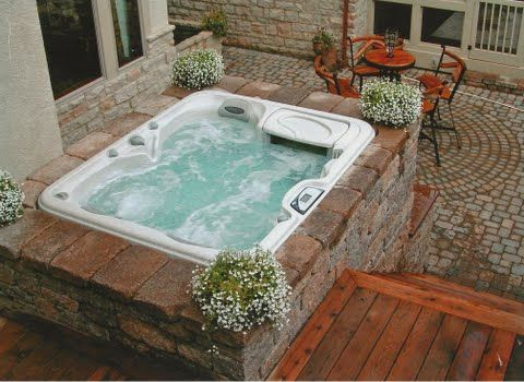 Above Ground Pool Plus Hot Tub Ideas Outdoor Hot Tub