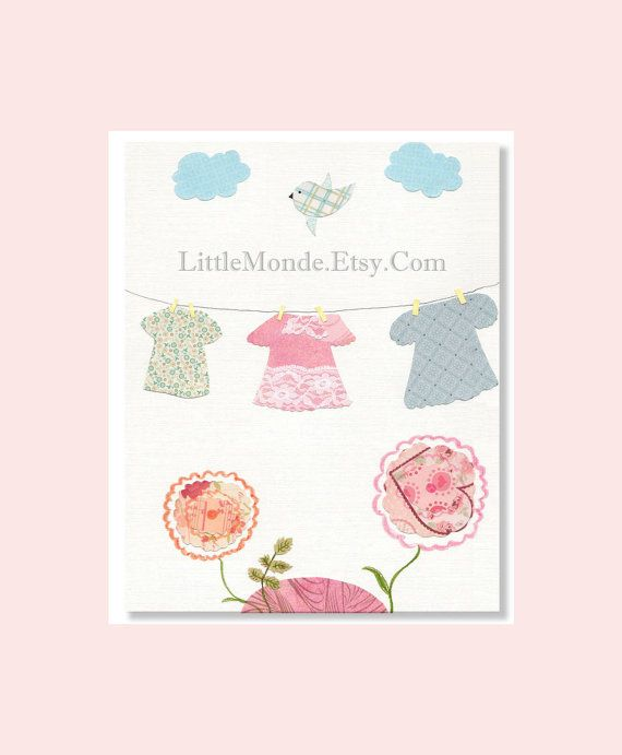 NURSERY ART PRINTS, Baby Girl Nursery Prints, Pastel Nursery Art, Pink Nursery Prints, Art For Baby Girl, Nursery Wall Decor. $16.00, via Etsy.