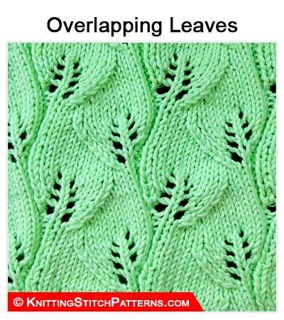 Knitting Stitch Patterns Lace Knitting Overlapping Leaf Stitch