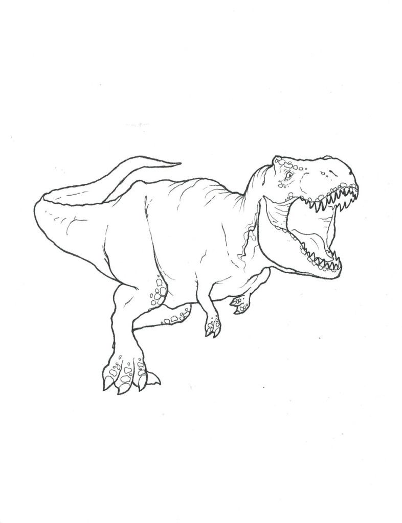 T Rex Coloring Pages Free